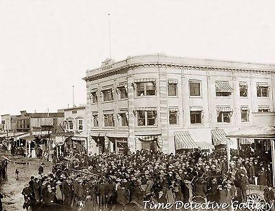 Mining Stock Exchange Building, Goldfield, Nevada - 1906 - Historic Photo Print