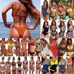 Womens-Swimwear-Push-Up-Padded-Bikini-Set-Monokini-Swimsuit-Beach-Bathing-Suit