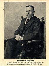 DIPLOMATEN Freiherr von Richthofen neuer AA-Staatssekretär Bilddokument 1900