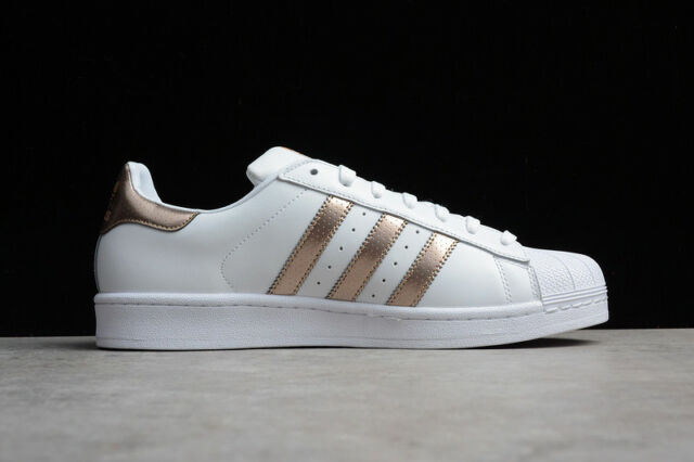 abdomen Plisado pulgada  Womens adidas Superstar Metallic Gold Rose Copper White Shell Toes NMD  Bb8138 10 for sale online | eBay