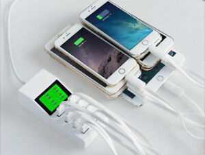 8-Multi-Port-USB-Wall-Charger-Quick-LCD-LED-Display-Adapter-Desktop-Dock