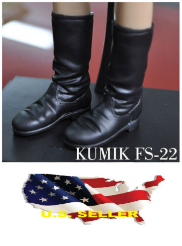 ❶❶1//6 kumik shoes FS-22 Black Widow Catwoman women black long Boot US seller❶❶