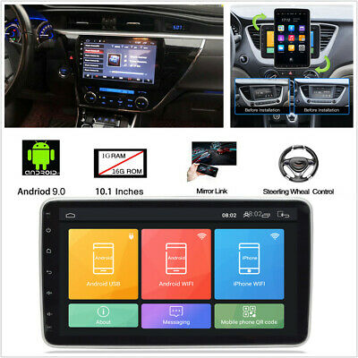 "10.1/"" Android 9.1 1+16G 2Din Car Stereo Radio GPS Wifi Quad-core Mirror Link"