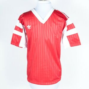 """Details about NOS NWT Adidas TREFOIL """"Wembley"""" Soccer Jersey V-Neck Red S"""