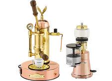 Elektra Micro Casa & Grinder MS Copper Brass Manual Lever Espresso Set 220V