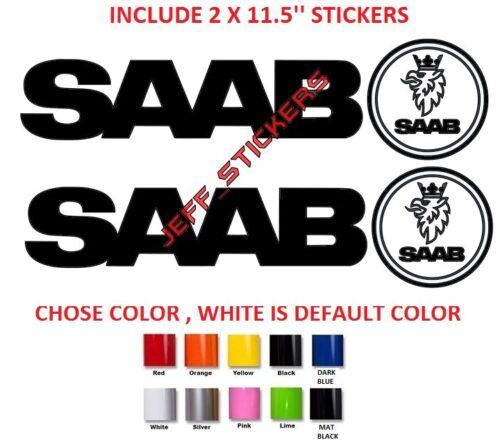 #287 2 X SAAB 11.5/'/' BODY CAR STICKER DECAL VINYL GRAPHIC