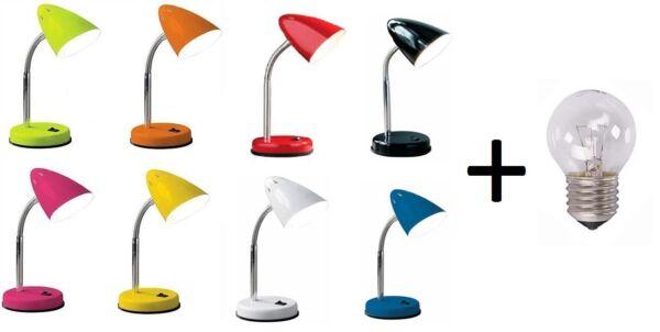 2019 Moda Flessibile Lampada Da Tavolo Ufficio Studio Lettura Lampada Tavolo Da Comodino 8 Colori Senza Lampadina
