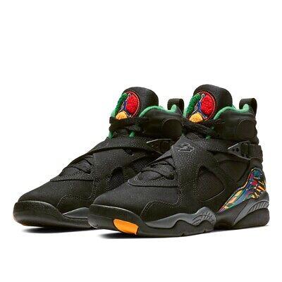 official photos 030e3 042df Nike Air Jordan 8 Retro GS Tinker Air RAID Black Shoe 305368-004 Youth Size  5y