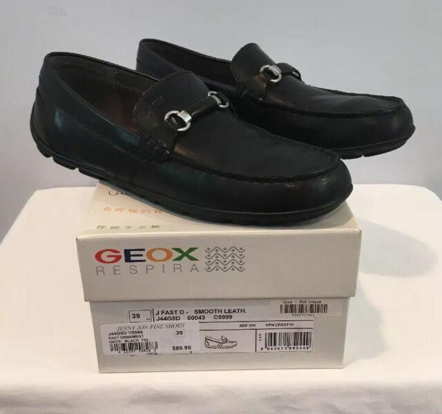 Carrera antena Hay una necesidad de  Geox Black Smooth Leather J Fast D J44g5d Slip on Bit Jr Boys Loafer Sz US  4 for sale online | eBay