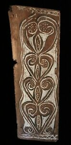 Painted-sago-bark-ceiling-traditional-painting-oceanic-tribal-art