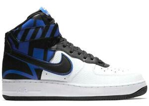 Nike Air Force 1 One High White Game Royal Blue Black Logo 806403