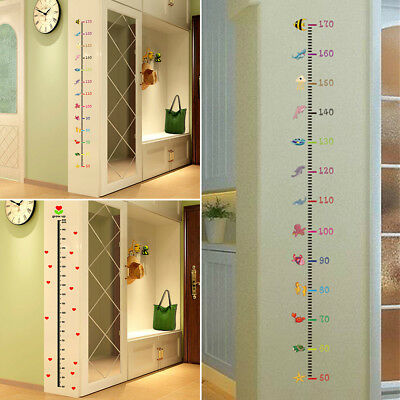 Kids Height Animal Decal Decor Room Wall Sticker Chart Measure Care Growth BB