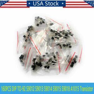 160pcs-TO-92-Transistor-2N2222-2N3904-2N5551-C945-S8050-S9013-2N3906-A1015-S8550