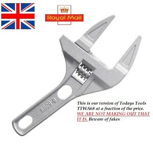 12in Monument 3144C Wide Jaw Adjustable Wrench 300mm MON3144