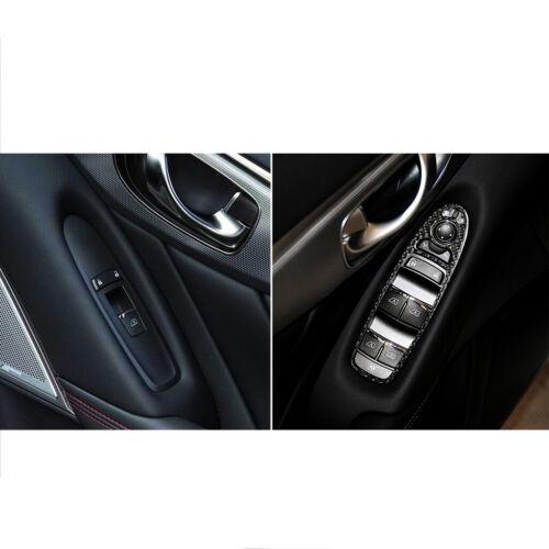 4PCS Carbon Fiber Window Switch Panel Cover Trim Fit For Infiniti Q50 Q60 14-19