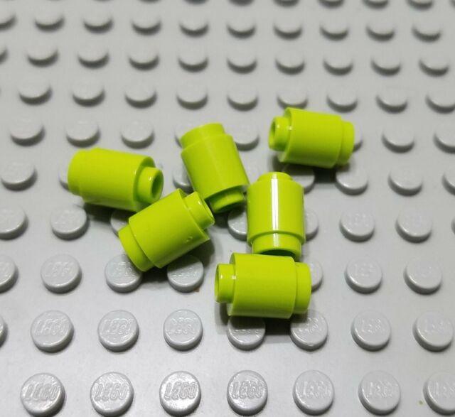 50 pcs 1x1 Round Bricks - LEGO - NEW! Transparent GREEN