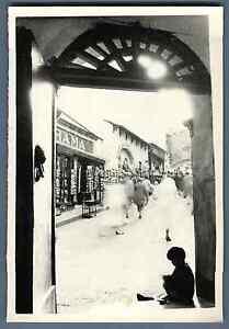 Italia-Capri-Scena-di-strada-Vintage-silver-print-Vintage-Italy-Tirage-ar