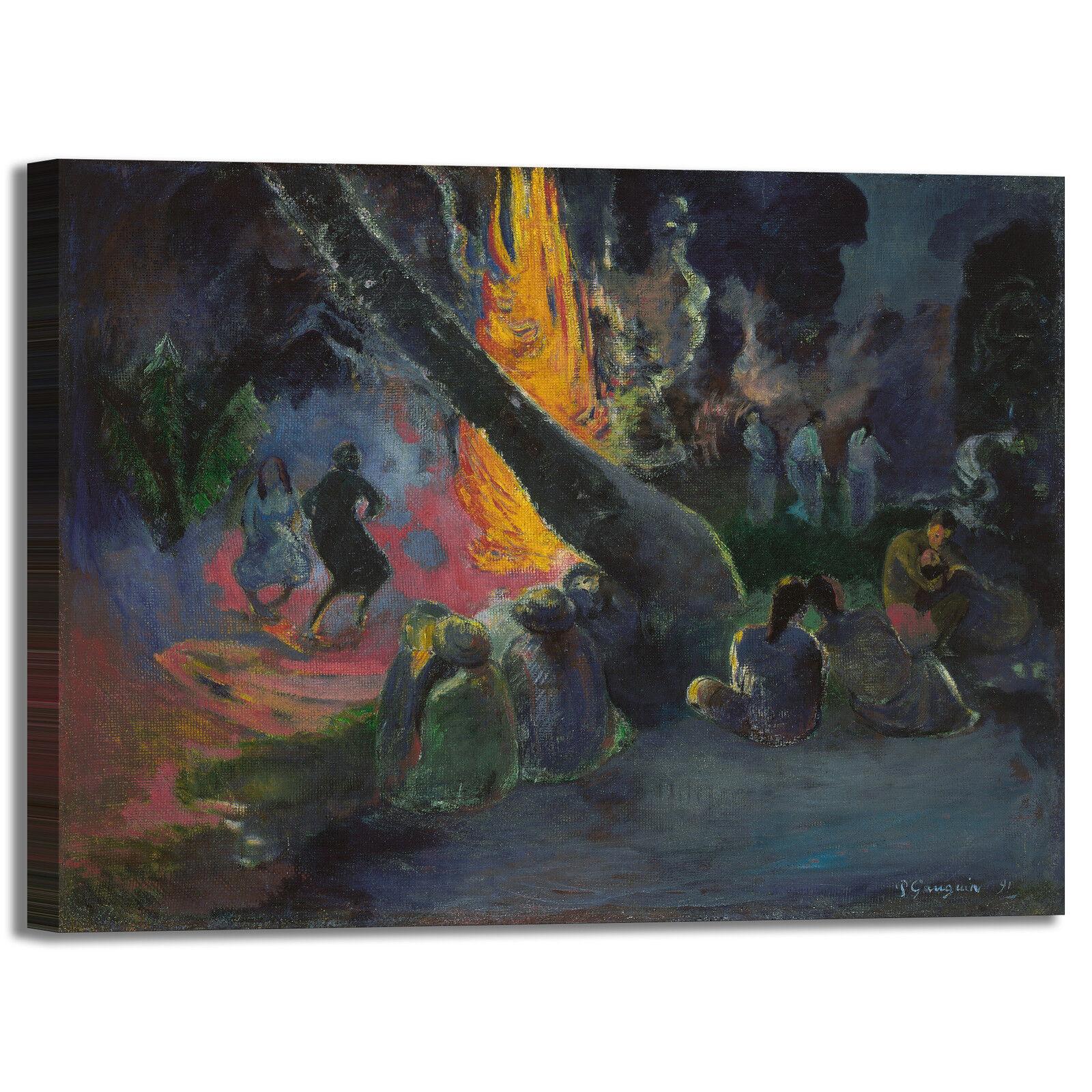 Gauguin upa upa danza del fuoco quadro stampa tela dipinto telaio arroto casa