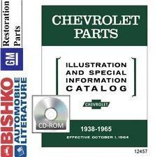 1938 1939 1949 1959 1960 1965 Chevrolet Parts Numbers Book List Cd Interchange Fits 1949 Chevrolet Truck