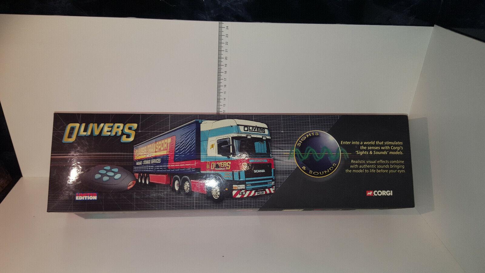 (Lot 237 E) CORGI CC12937 Sight & Sound SCANIA TOPLINE Olivers Trans. LTD ED.