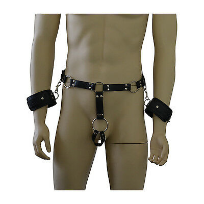 Bondage Bekleidung Männer Harness Geschirr Fetisch Kunstleder Bekleidung String Hüftharness Neu Ausreichende Versorgung Kleidung & Accessoires
