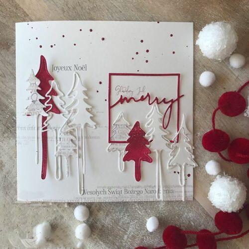 Christmas Tree Metal Cutting Dies Stencil DIY Scrapbooking Paper Card Embossing