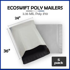 5 24x36 Ecoswift Poly Mailers Large Plastic Envelopes Shipping Bags 235mil