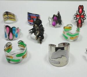 7pcs-wholesale-Jewelry-fashion-Enamel-glaze-stainless-steel-Rings-free-shipping