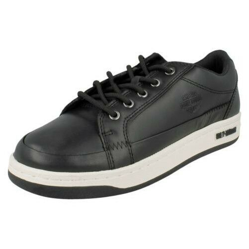 Harley-Davidson Mens Leather Trainers Jez - D93133