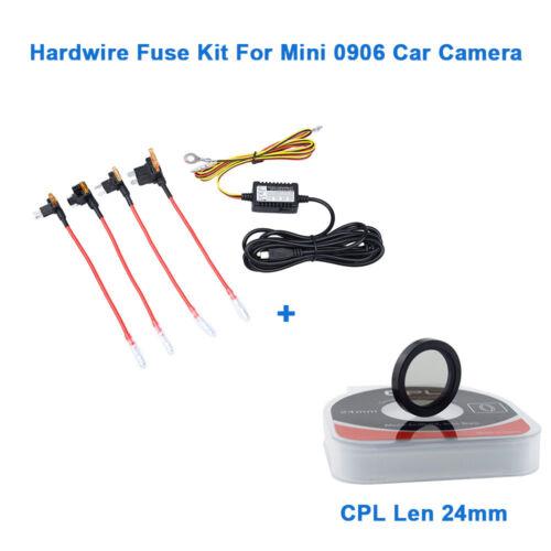 Hardwire Fuse Kit For Mini 0906 Car Dash Cam Circular Polarizing CPL Lens 24MM