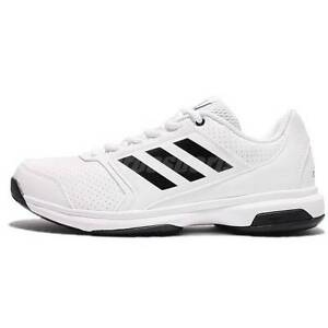 brand new 5960d 78aec Image is loading Adidas-Adizero-Attack-Mens-Tennis-Trainers-BA9084