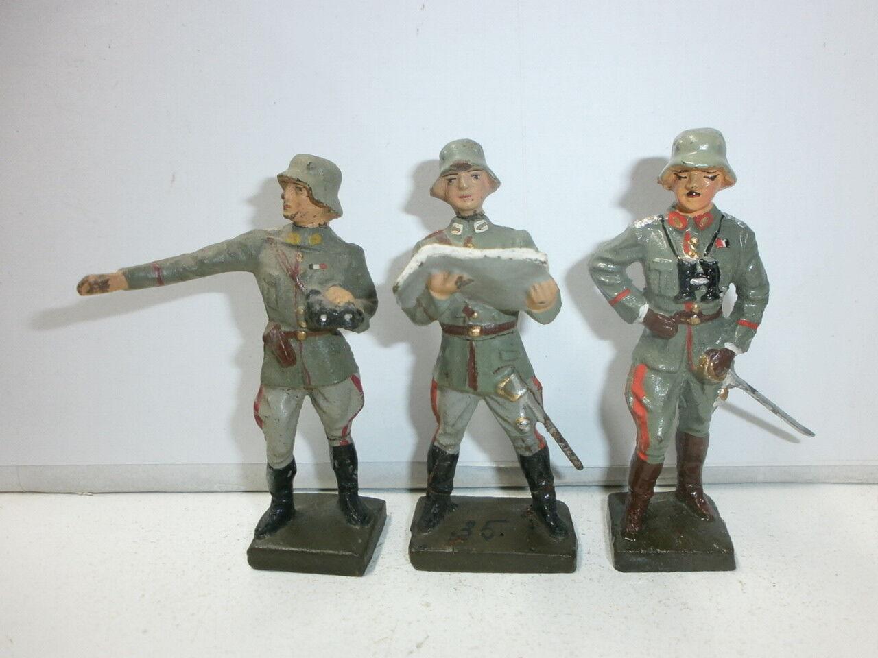 Konvolut 3 Antiguo Lineol Massesoldaten Generals
