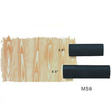 2pcs M-shape Wood Grain Design DIY Wall Decoration Tool Graining Rubber Painting
