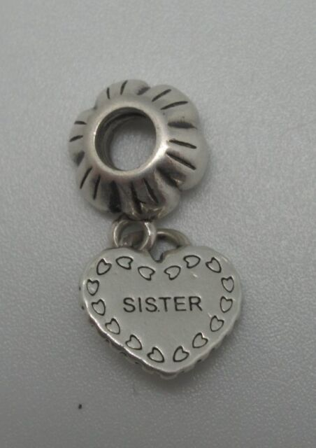 "Authentic Pandora Charm  ""My Special Sister""  791383 Silver  925 ALE"