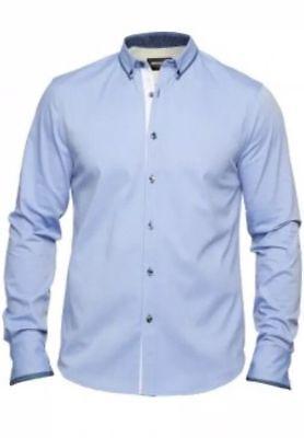 Mish Mash Casey Blue /& Grey BIG Size Shirt £22.99 rrp £50 2xl 3xl 4xl 5xl 6xl