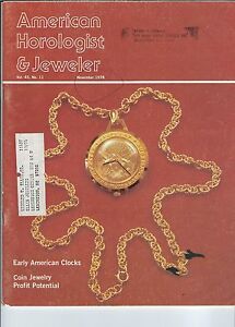 MF-096 - American Horologist & Jeweler Magazine, Nov 1978, Early American Timepc