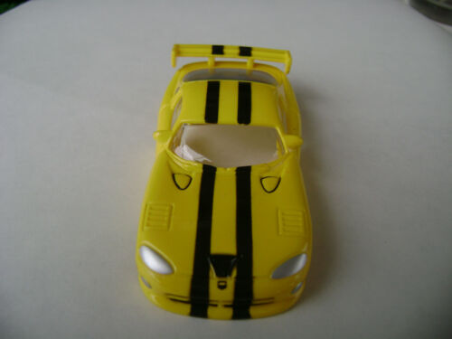Sold Out Auto World Xtraction Yellow Dodge Viper HO Slot Car Body Fit Aurora AFX