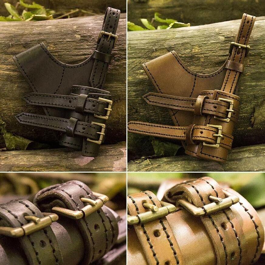 LH Leather Buckled Adventurer's Sword Holder for Costume, Re-enactment & LARP