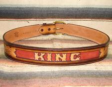 Custom Vintage Tony Lama Tooled Leather Letter Name Western Belt Most Sizes