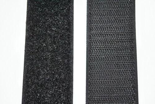 und Flauschband . Klettband schwarz 40mm breit je 1m Klettverschluss Haken