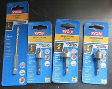 Lot of 4 - Ryobi Countersink & Titanium Split Point Drill - T8