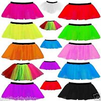 TUTU SKIRTS FANCY DRESS NEON UV 1980s HEN PARTY COSTUME one size 8-16
