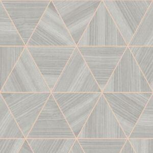 Placage-Gris-Dore-Rose-Triangle-Papier-Peint-arthouse-901703-Metallique-Meches