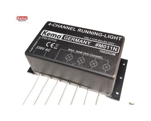 Centralina controllo 4 luci max 300W a scorrimento 230V velocità regolabile