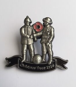 WW1 CHRISTMAS TRUCE 1914 REMEMBRANCE PIN BADGE 10% Donated To Veterans Charities