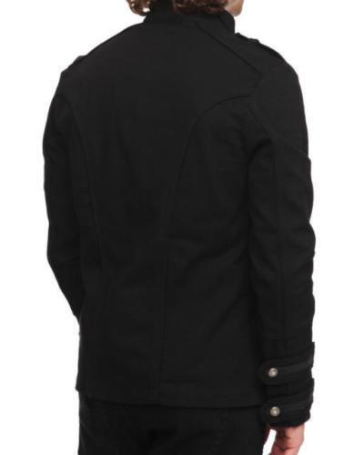 Guard Hommes Veste Goth Black Main Pea Coat Pour Militaire Militaire La Vintage Steampunk qpKIYqr
