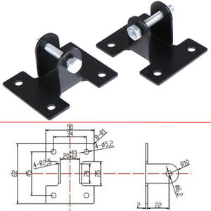 2pcs Mount Mounting Brackets Link For DC12V//24V Heavy Duty Linear Actuator
