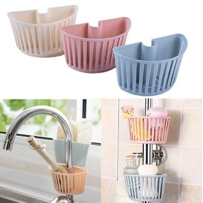 Plastic Wash Sponge Sink Holder Hanging Kitchen Bathroom Storage Drain  Baskets | eBay