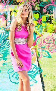381a1a3d7f14fb New Lilly Pulitzer ASHLYN SHIFT DRESS Cotton Magenta Pink 4 8 10 12 ...