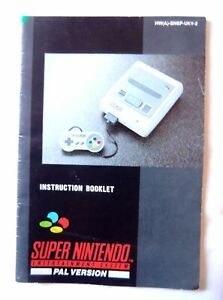 55011-Instruction-Booklet-Super-Nintendo-Console-Nintendo-SNES-1992-HW-A